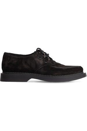 SAINT LAURENT Teddy Suede Derby Shoes