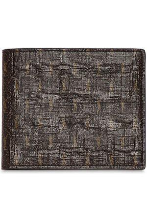 SAINT LAURENT Allover Monogram Canvas Wallet