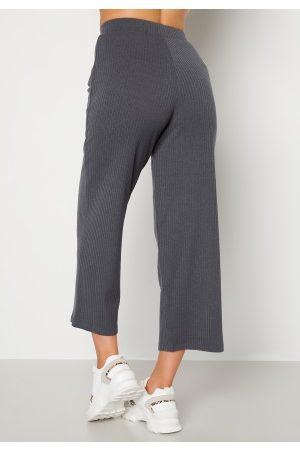 Happy Holly Kvinder Trekvartbukser - Ruby cropped pants Dark grey melange 48/50