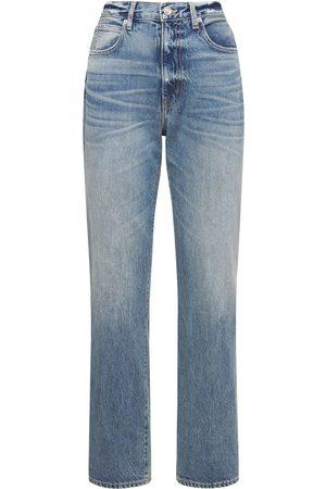 SLVRLAKE London High Rise Straight Cotton Jeans