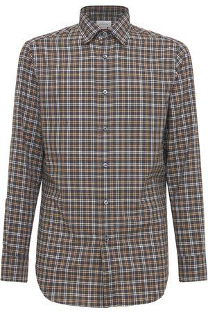 BRIONI Mænd Langærmede skjorter - Check Cotton Shirt