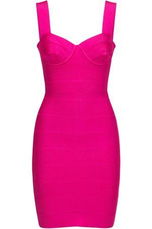 Hervé Léger Stretch Jersey Bandage Mini Dress