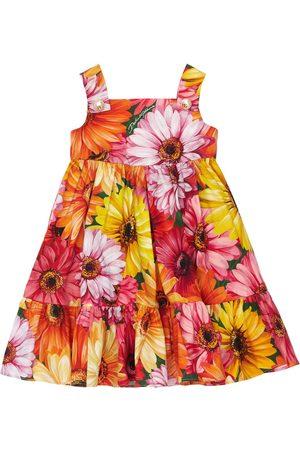 Dolce & Gabbana Gerbera Print Poplin Dress W/ Diaper