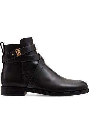 Burberry 20mm New Pryle Leather Ankle Boots