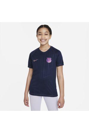 Nike FC Barcelona Away Dri-FIT Pre-Match-fodboldtrøje til større børn
