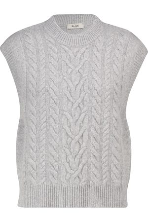 BLAZÉ MILANO Cable-knit wool and cashmere sweater vest