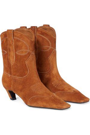 Khaite Dallas suede cowboy boots