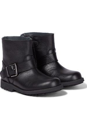 BONPOINT Piger Ankelstøvler - Moto grained leather ankle boots