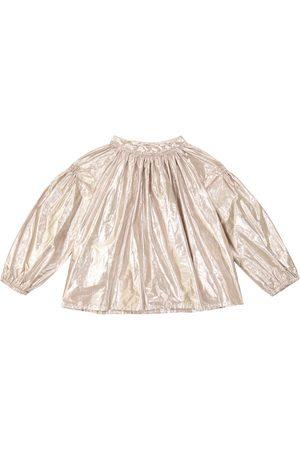 BONPOINT Piger Bluser - Habillee cotton-blend blouse