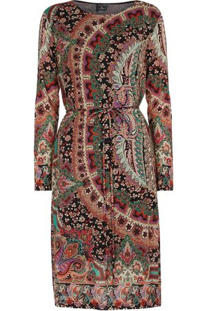 Etro Kvinder Casual kjoler - Printed wool-blend jersey midi dress