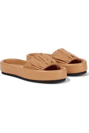 Khaite Cruz leather slides