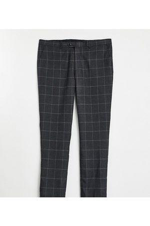 Gianni Feraud Plus - Smalle habitbukser med vinduestern-Grøn