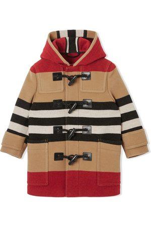 Burberry Duffle-frakke med ikonisk-stribe