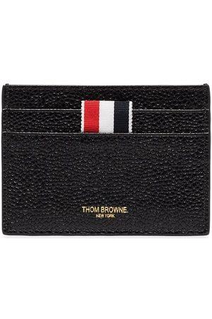 Thom Browne Leather RWB-tab cardholder