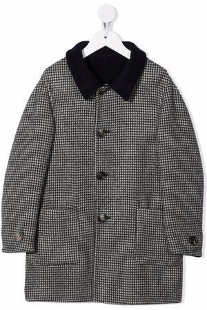 Brunello Cucinelli Houndstooth-mønstret frakke