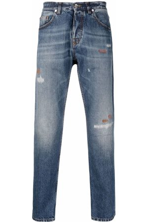 ELEVENTY Jeans med smal pasform og slitageeffekt