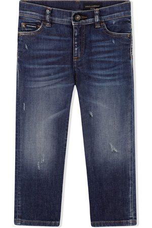 Dolce & Gabbana Whiskered jeans med lige ben