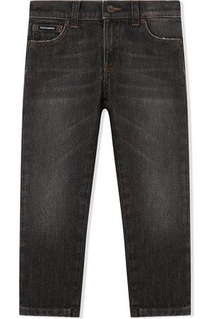Dolce & Gabbana Jeans med lige ben og logomærke