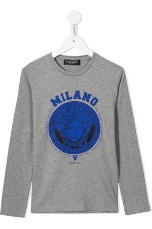 VERSACE Langærmet T-shirt med Medusa-tryk