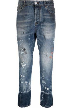John Richmond Falmede jeans med slitageeffekt