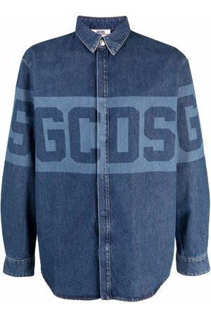 GCDS Skjorte i denim med logotryk