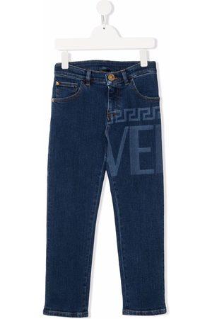 VERSACE Skinny-jeans med logotryk