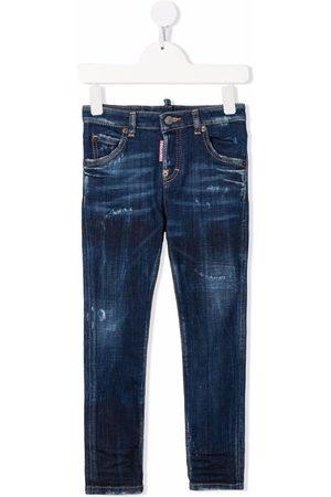 Dsquared2 Jeans med slitageeffekt og lige ben