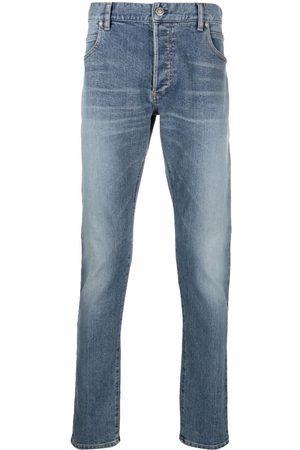 Balmain Ribbede jeans med smal pasform med præget logo