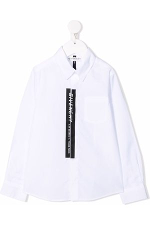Givenchy Langærmet T-shirt med vertikalt logo