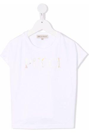 Emilio Pucci Kortærmet T-shirt med logotryk