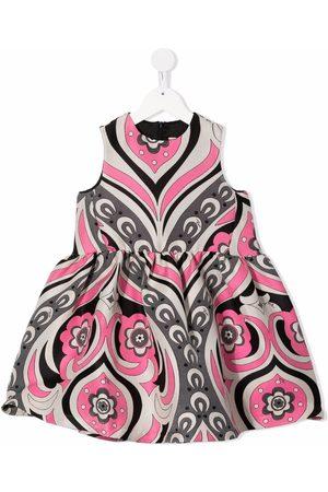 Emilio Pucci ærmeløs kjole med blomstertryk