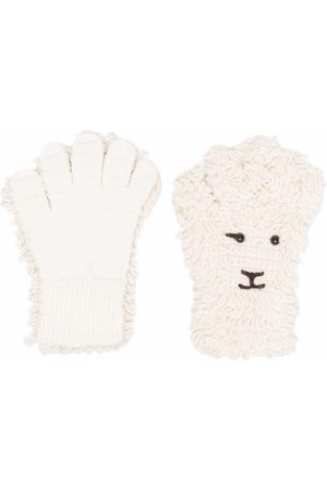DOUBLET Felted sheep knit gloves