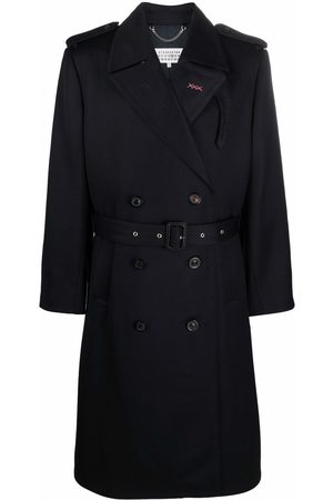 Maison Margiela Double-breasted wool trench coat
