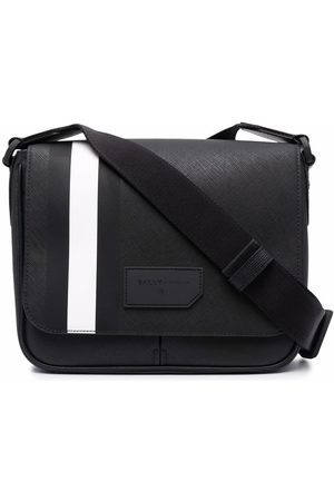 Bally Striped leather shoulder bag