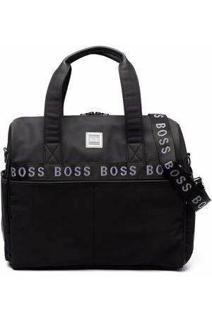 HUGO BOSS Logo embroidered top-handle bag
