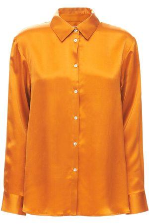 ASCENO The London Silk Pajama Shirt
