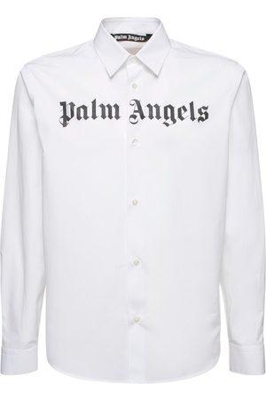 Palm Angels Classic Logo Print Cotton Shirt