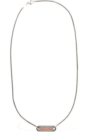PALM ANGELS Logo Plate Necklace
