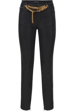 Tom Ford Kvinder Slim bukser - Shiny Lacquered Denim Skinny Pants