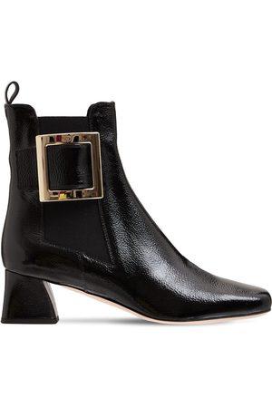 Roger Vivier 45mm Tres Vivier Patent Leather Boots