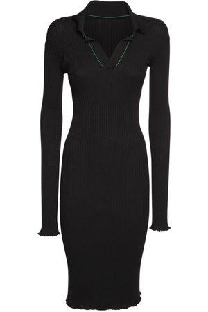 BOTTEGA VENETA Kvinder Midikjoler - Ribbed Cotton Knee Length Dress