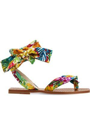 Christian Louboutin Kvinder Sandaler - 10mm Niloofar Satin Thong Sandals