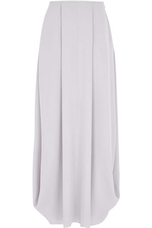 GIORGIO ARMANI Georgette Asymmetric Silk Long Skirt