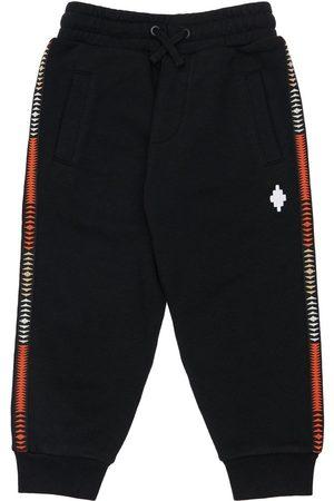 MARCELO BURLON COUNTY OF MILAN Cotton Blend Sweatpants W/ Logo Bands
