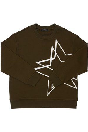 Nº21 Piger Sweatshirts - Star Print Cotton Sweatshirt