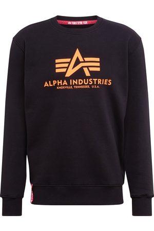 Alpha Industries Mænd Sweatshirts - Sweatshirt 'Basic Sweater Neon Print