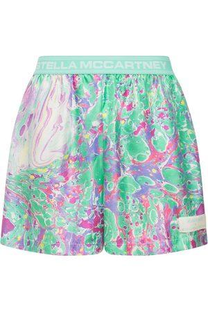 Stella McCartney Mænd Shorts - Printed Satin Shorts
