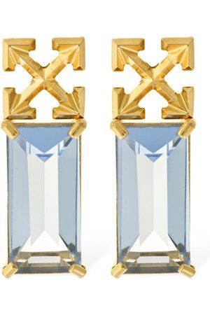 OFF-WHITE Arrow Crystal Earrings