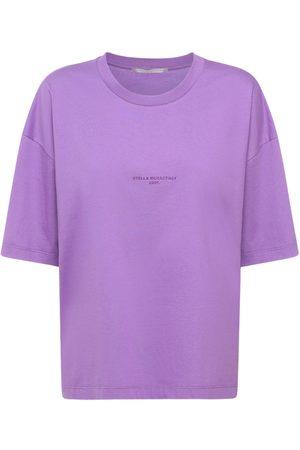 Stella McCartney Kvinder Kortærmede - Logo Cotton T-shirt