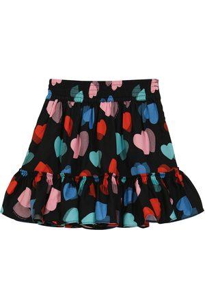 Stella McCartney Heart printed twill skirt